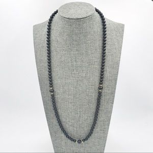 JUST FOR YOU Vintage Black Bead Spacer Necklace